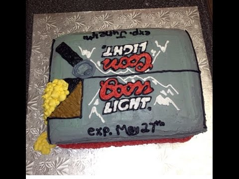 Cake Decorating: Coors Light case!