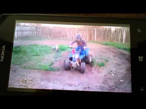 Andrew on his 110cc atv