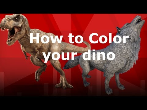 How to color dinos// Ark Survival Evolved on PS4