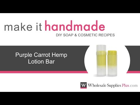 How to Make Purple Carrot Hemp Lotion Bar Recipe {Make It Handmade}
