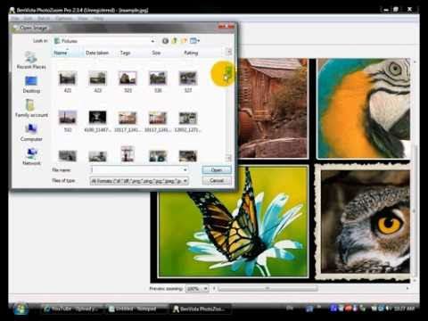 Picture zooming program tutorial.