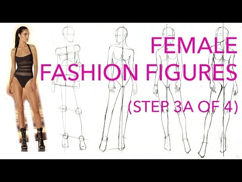 How to Draw Fashion Figures: Step 3A of 4: Drawing Legs