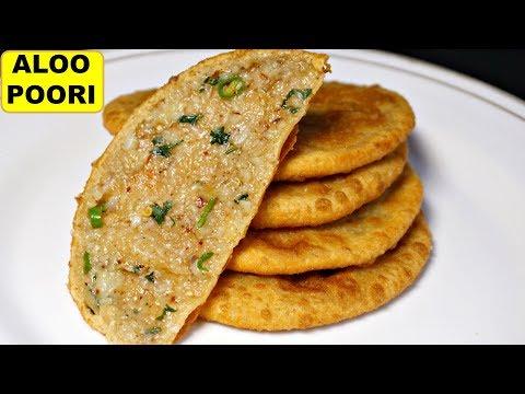 स्टफ्ड आलू पूरी बनाने की विधि - Aloo Puri Masala Recipe In Hindi | Garhwal Special | CookWithNisha