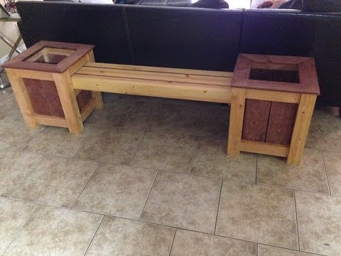 Building a Garden Bench with Planters