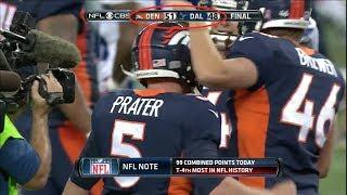 NFL Highest Scoring Game of Every Season (2007-2018)