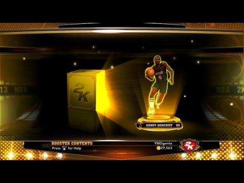 NBA 2K13 MyTEAM - Gold Pack Openings: Spending 45K VC! Increasing Chances of Getting Gold Players