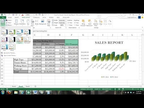 Microsoft Excel 2013 Tutorial For Beginners #1: Crash Course Data Entry Formulas Formats Charts 365
