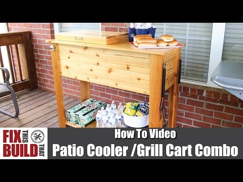 Patio Cooler & Grill Cart Combo | How to Make