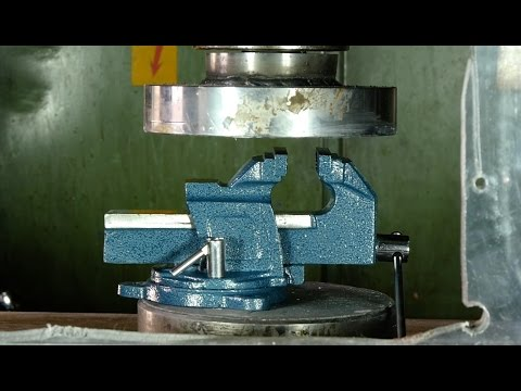 Crushing vice and other tough stuff with hydraulic press