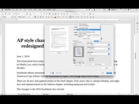 Using Mac print presets for single-sided documents