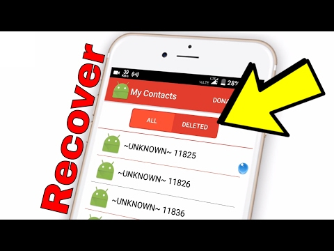 How To Recover/Restore Deleted Contacts from Any Android