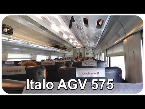 Onboard an Italo AGV 575 High Speed Train - Rome to Naples