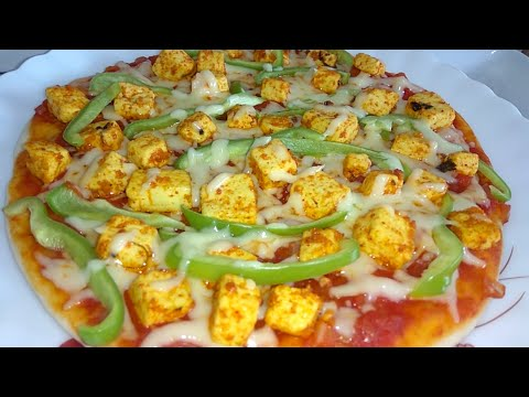 Paneer Tikka Pizza Recipe in Hindi | With Kadhai | Pizza without Yeast | Paneer Tikka without Oven