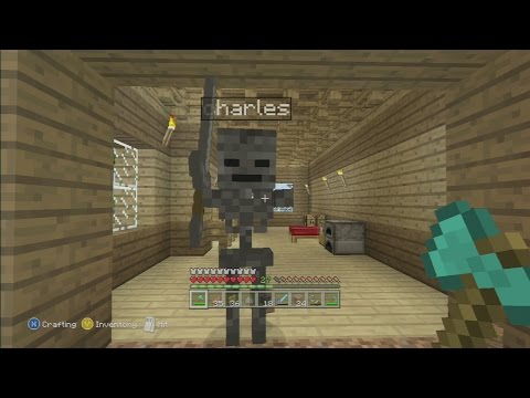 Minecraft xbox 360 how to catch a wither skull in survival
