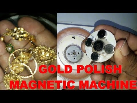 gold  polish magnetic machine at home
