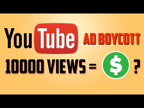 How Much Money Youtube Paying for Per 10000 Views after recent ad boycott?