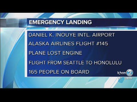 Alaska Airlines plane makes emergency landing after engine goes out mid-flight