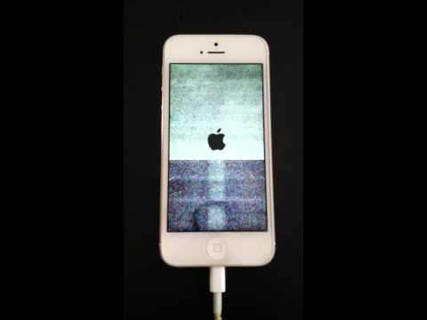 Iphone 5 reboot loop horizontal lines