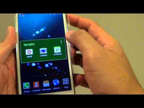 Samsung Galaxy S5: How to Customize Home Screen Folder Color