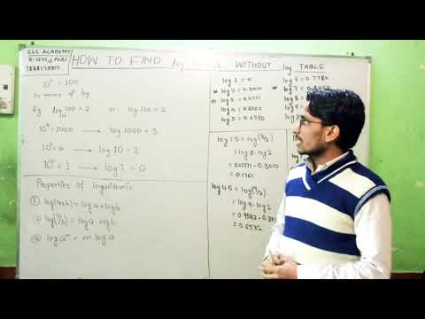 How to find log value without log table by VISHNU SIR
