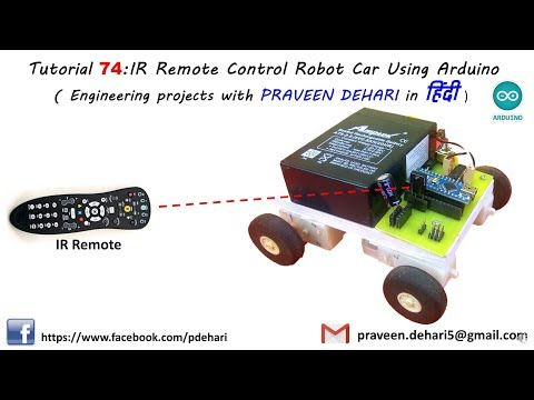 IR Remote Control Robot Car Using Arduino (Tutorial : 74 in हिंदी )