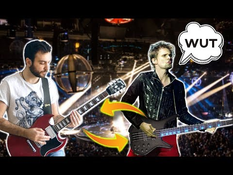 Muse - Hysteria BUT Bass And Guitar Are Swapped!