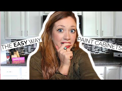 🎨THE FAST + EASY WAY TO PAINT CABINETS! 🎨 Laci Jane DIY