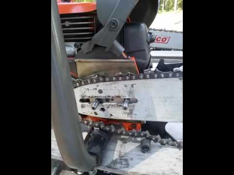 Fixing a chainsaw chain and drive links .