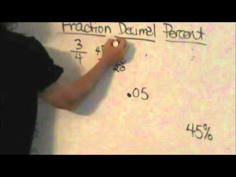 How to go from a fraction to a decimal to a percent.