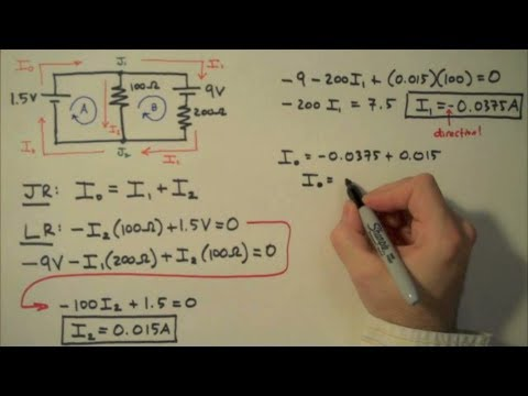 How to Solve a Kirchhoff's Rules Problem - Simple Example
