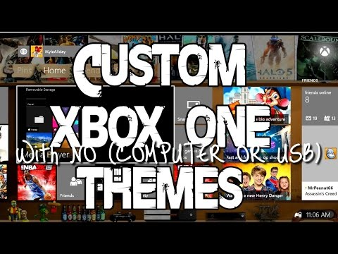 How to get custom backgrounds on your Xbox one with your iPhone  (NO COMPUTER or USB)