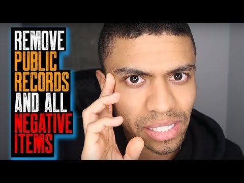 REMOVE PUBLIC RECORDS AND ALL NEGATIVE ITEMS || Don't Go Back To College