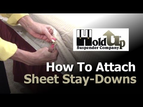 How To Attach Sheet Straps, Bed Sheet Holders and Sheet Stay-Downs