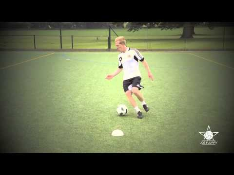 Learn how to do the Step Over Turn - Football Soccer Move Tutorial