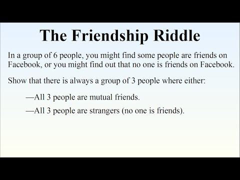 The Friendship Theorem - You Always Have 3 Friends Or 3 Strangers At A Party