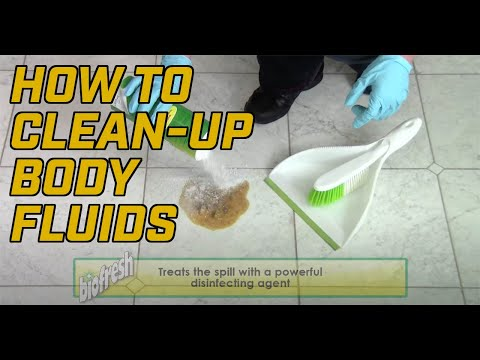 How to Clean up Vomit, Blood or other Biohazards