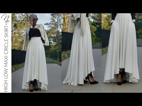 Nadira037 | DIY | High Low Maxi Circle Skirt Tutorial