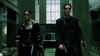 Shootout in the lobby | The Matrix [Open Matte]
