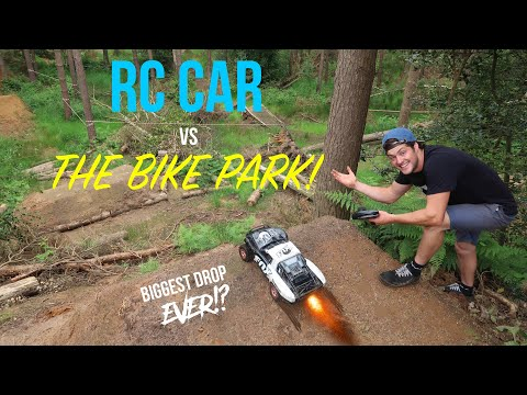 RC CAR VS THE BIKE PARK!!