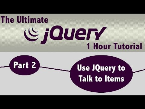 JQuery 1 Hour Tutorial (Easy) Part 2 - JQuery Selectors