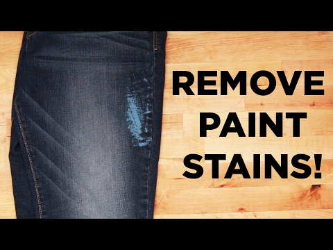 How to Remove Paint Stains