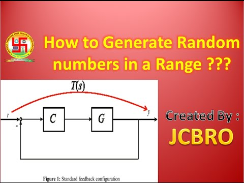 How to generate random numbers in a range ?