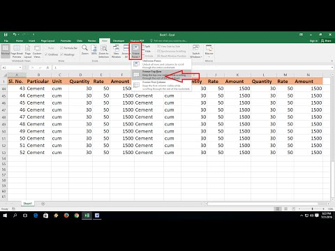 How to Freeze Unfreeze Rows & Columns in MS Excel (Excel 2003-2016)