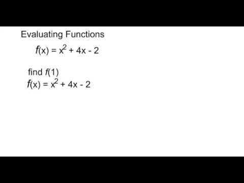 Evaluating Functions: f(x)= x^2 +4x -2   find f(1)