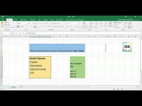 How to add the Bullet Points in Excel