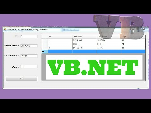 VB.NET - How To Add A Row To DataGridView From TextBox In VB.NET [ With Source Code ]