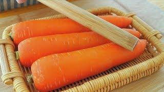【小穎美食】胡蘿蔔不要做老一套了,學會這樣做,無水無油,孩子吃了還想吃,解饞!