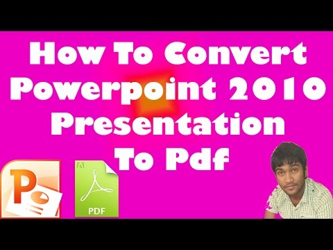 How To Convert Powerpoint 2010 Presentation To Pdf