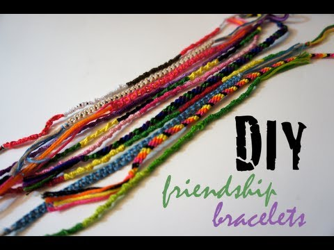 DIY Friendship Bracelets - 3 Easy Designs for Beginners