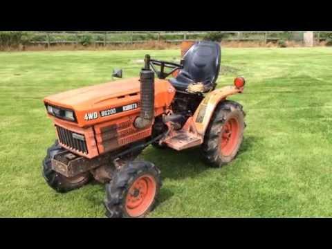 Driving A Kubota B6200D 4WD Garden Tractor!